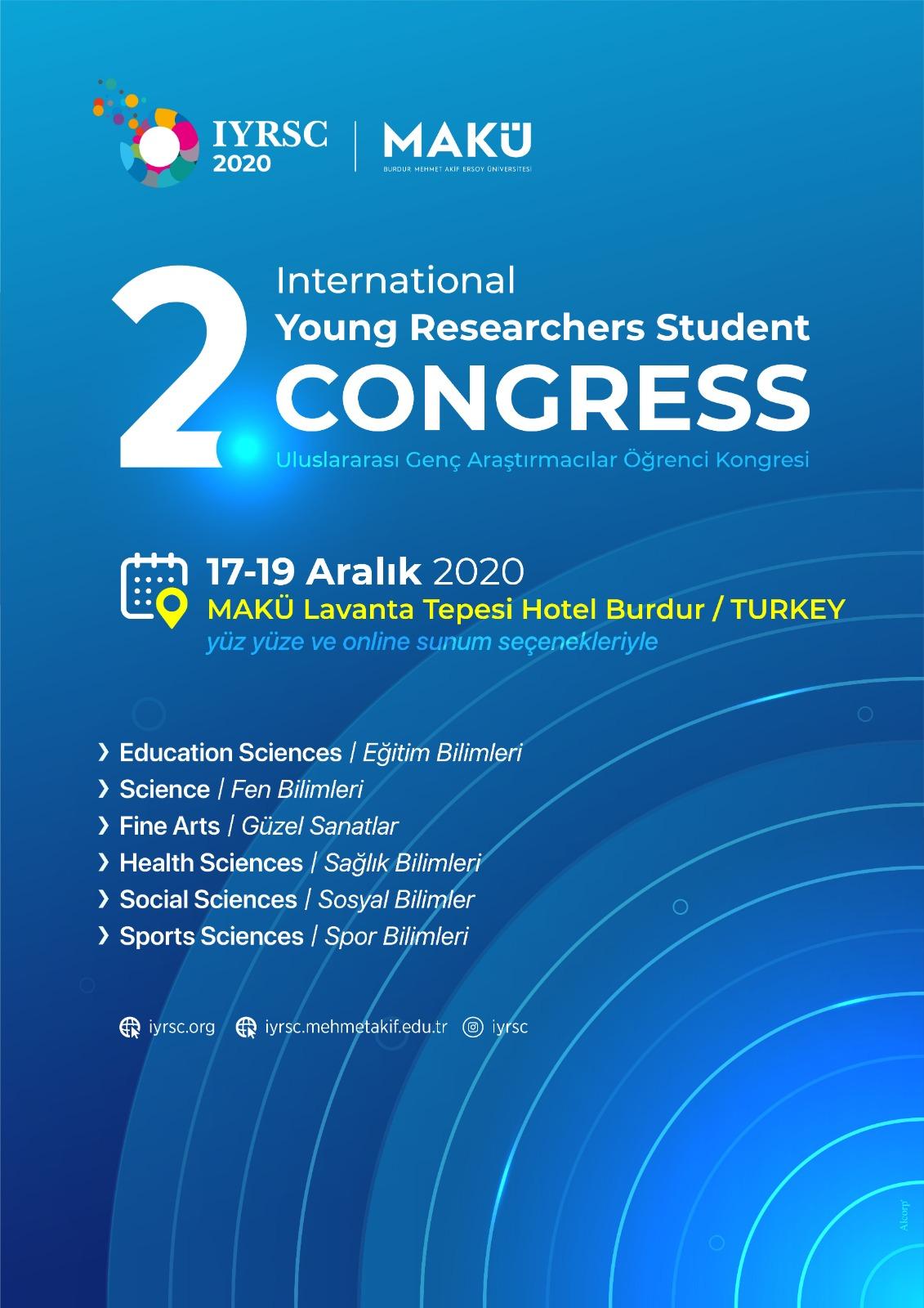 2. Uluslararası Genç Araştırmacılar Öğrenci Kongresi